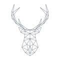 Deer head in polygonal style. Vector illustration