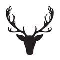 Deer head vector illustration isolated elk silhouette