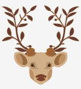 Deer head with white background Stock Image