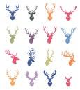 Deer horns label set.