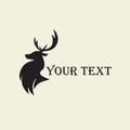 Deer Hunting Silhouette Template Vector Design Logo