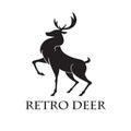 Deer Logo Retro Vector Illustration Template Royalty Free Stock Photo