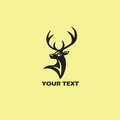 Deer Logo Template. Vector Illustration Royalty Free Stock Photo