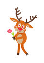 Deer in Love cartoon flat vector illustration