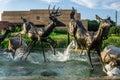 Deer sculptures Royalty Free Stock Photo
