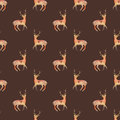 Deer. Seamless Pattern With Co...