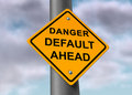 Default danger sign Stock Photos