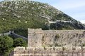 Defence wall ston croatia view on peljesac Stock Images