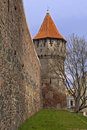 Defence wall and tower in Sibiu Stock Photos