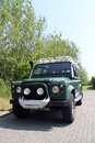 Defender csw landrover front view Stock Photo