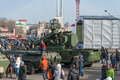 Defender of the fatherland day vladivostok russia february modern russian armored vehicles during festivities devoted to Stock Image