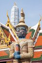 Defender of temple,art of thailand Royalty Free Stock Photo