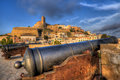 Defense cannons in Ibiza Royalty Free Stock Photo