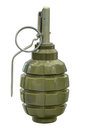 Defensive grenade manual isolated on white background Stock Photos