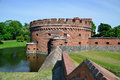 Defensive tower dona kaliningrad russia june old german military fortification was built in inside is a museum of amber Royalty Free Stock Photo