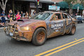 Defiance law keeper dodge car on san diego downtown street july at the comic con july in ca Stock Image