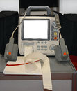 Defibrillator external with monitor unit mediacal equipment Royalty Free Stock Photos