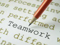 Define Teamwork  Royalty Free Stock Photography