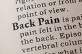Definition of Back Pain Royalty Free Stock Photo