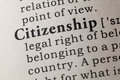 Definition of citizenship Royalty Free Stock Photo