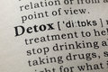 Definition of detox Royalty Free Stock Photo
