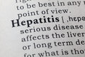 Definition of hepatitis Royalty Free Stock Photo