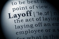 Definition of layoff Royalty Free Stock Photo