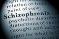 Definition of Schizophrenia Royalty Free Stock Photo