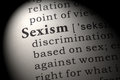 Definition of Sexism Royalty Free Stock Photo