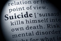 Definition of suicide Royalty Free Stock Photo