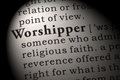 Definition of worshipper Royalty Free Stock Photo