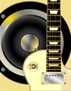 Guitar and Speaker Royalty Free Stock Photo