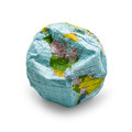 Deflated globe Royalty Free Stock Photo