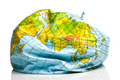 Deflated planet earth balloon Royalty Free Stock Photography