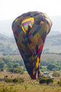 Deflating balloon magaliesberg south africa november a being deflated after a flight in the magaliesberg mountian range on Royalty Free Stock Photo