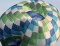 Deflating hot air balloon Royalty Free Stock Photo