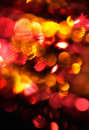 Defocus of red and yellow lights. Royalty Free Stock Photography