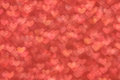 Defocused abstract red hearts light background Royalty Free Stock Photo