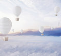 Defocused balloons over dreamy sky blue Stock Photography