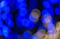 Defocused blue circle light background Royalty Free Stock Photo