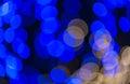 Defocused blue circle light background Royalty Free Stock Photo