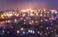 Defocused bokeh of Prague and Vltava river with Charles Bridge Royalty Free Stock Photo