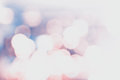 Defocused Bokeh twinkling lights Vintage background. Festive bac Stock Photos