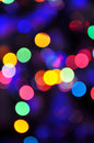 Defocused christmas lights abstract background of a Royalty Free Stock Photos