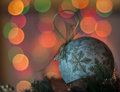 Defocused christmas lights ball as decoration on abstract background shallow depth of field Royalty Free Stock Image