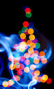 Defocused Christmas tree Royalty Free Stock Image