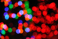 Defocused Christmas Tree Lights Royalty Free Stock Photo