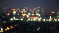 Defocused City light blur bokeh Royalty Free Stock Photo