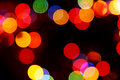 Defocused colored circular lights Royalty Free Stock Image