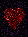 Defocused heart Royalty Free Stock Photos